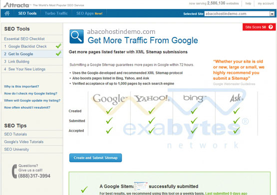 increase your website search ranking traffic abaco hosting