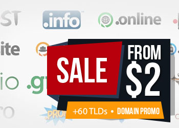 Domain Promo from $2